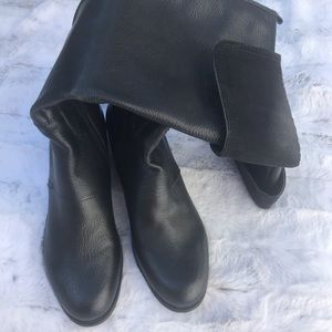 Nine West Shoes - Nine West Leather Tall Boots